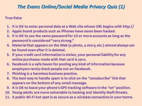 Privacy Quiz 1