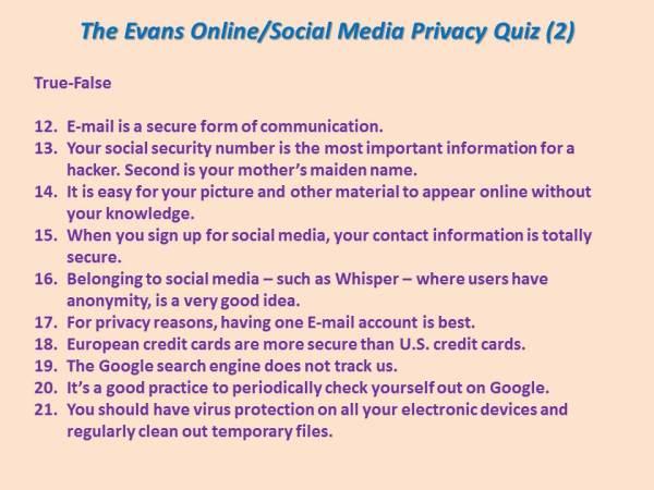 Privacy Quiz 2