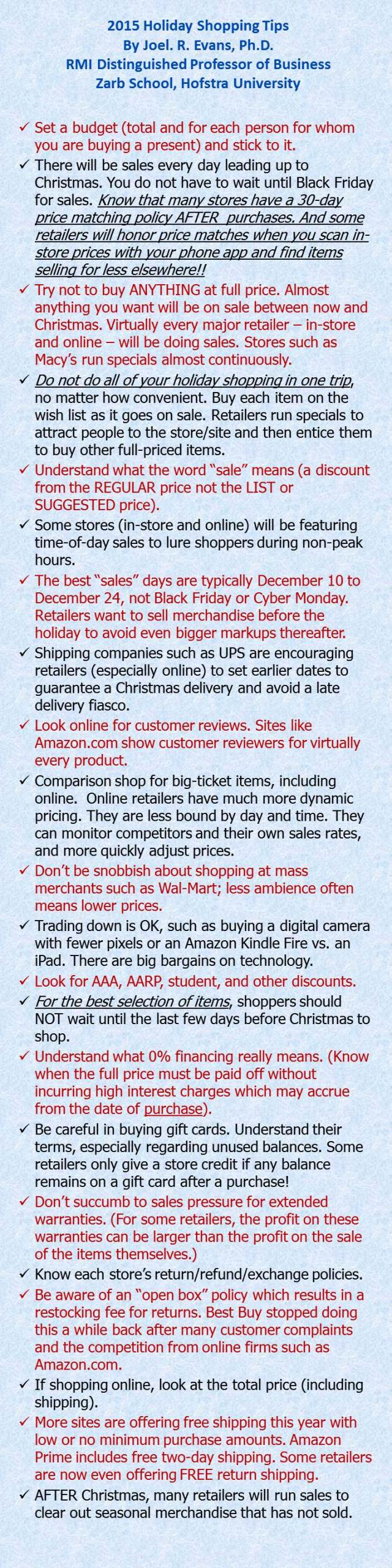 2015 Shopping Tips
